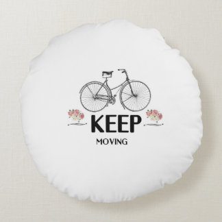 Keep moving round pillow