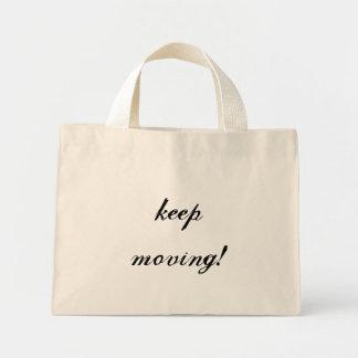 keep moving tote bag