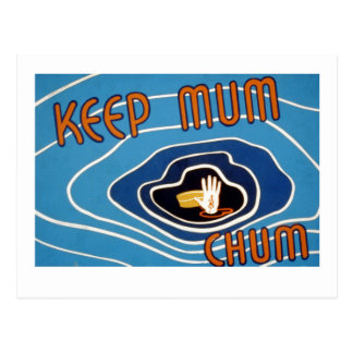 Keep Mum Chum Postcard