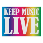 Keep Music Live Posters