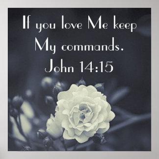 keep my commands bible verse John 14:15 Print