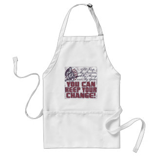 Keep My Freedom. Money and Guns Adult Apron