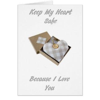 Keep My Heart Safe Card