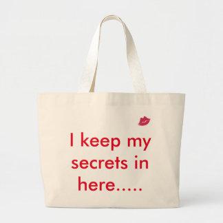 Keep my Secrets Large Tote Bag