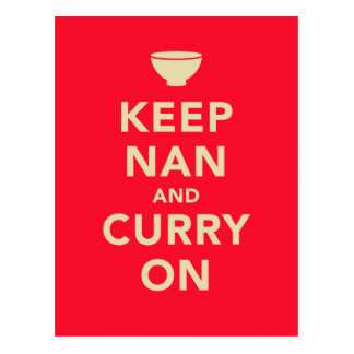 'Keep Nan and Curry On' Parody Postcard