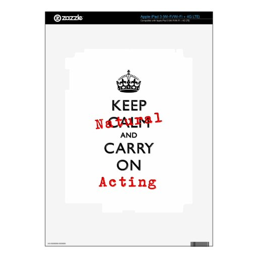 KEEP NATURAL iPad 3 DECAL
