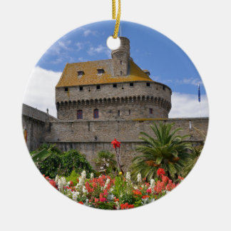 Keep of Saint-Malo in France Ceramic Ornament