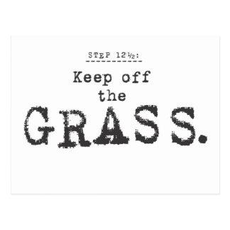keep of the grass... postcard