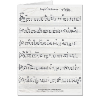 Keep Of The Promise Sheet Music note card