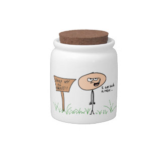 Keep Off da Grass jar Candy Dish
