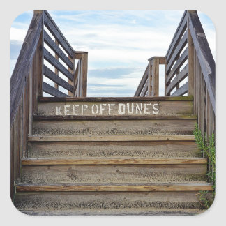 Keep Off Dunes Square Sticker