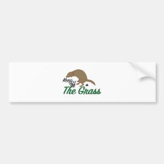 Keep Off Grass Bumper Sticker