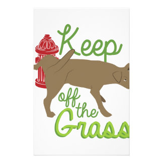 Keep Off Grass Stationery
