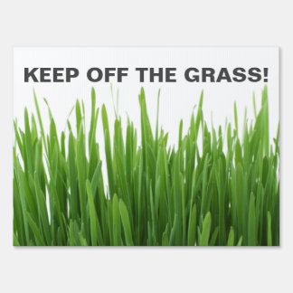 KEEP OFF THE GRASS / LAWN Photograph Warning Sign