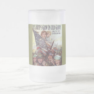 Keep Old Glory Frosted Glass Beer Mug