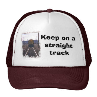 Keep on a straight track hats