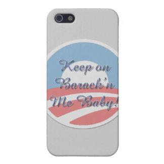 Keep On Barack 'n Me Baby smaller script iPhone SE/5/5s Case