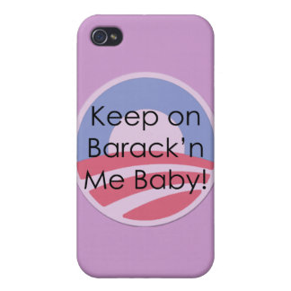 Keep On Barack'n Me Baby! Text iPhone 4/4S Cover