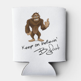 Keep On Believin' Bigfoot Autograph Can Cooler