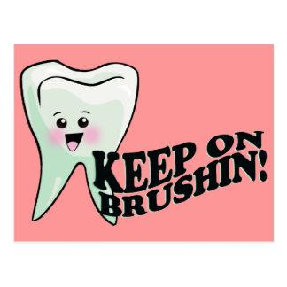 Keep On Brushing Postcard