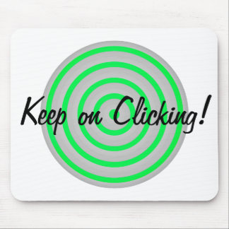 Keep on Clicking Concentric Circles Mouse Pad