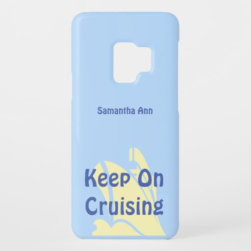 Keep on Cruising Yellow Ship Personalized Case-Mate Samsung Galaxy S9 Case