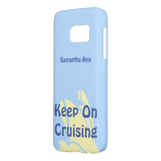 Keep on Cruising Yellow Ship Personalized Samsung Galaxy S7 Case