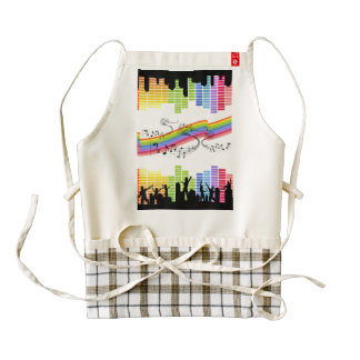 Keep on dancing zazzle HEART apron