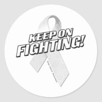 Keep on Fighting Bone Cancer Classic Round Sticker