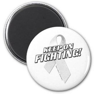 Keep on Fighting Bone Cancer Magnet