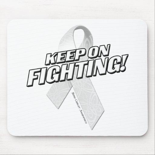 Keep on Fighting Bone Cancer Mousepads
