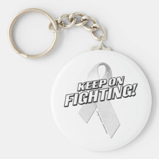 Keep on Fighting Lung Cancer Keychain