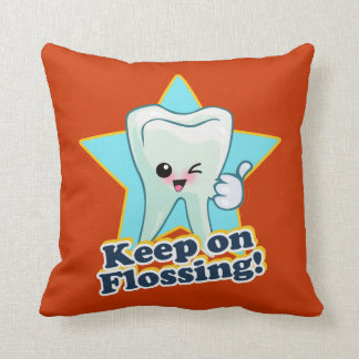 Keep On Flossing Throw Pillow