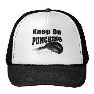 Keep On Punching (Black) Trucker Hat
