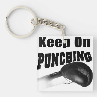 Keep On Punching (Double Sided) Keychain