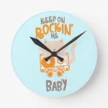 """Keep On Rockin"" Cassette Cat Clock"