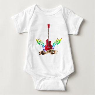 keep on rocking electric guitar wings baby bodysuit