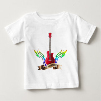 keep on rocking electric guitar wings baby T-Shirt