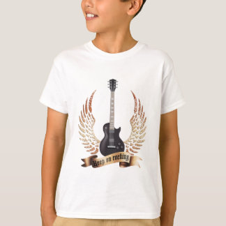 keep on rocking electric guitar wings T-Shirt
