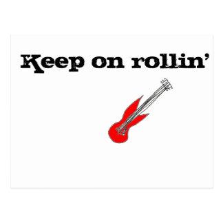Keep on Rollin Postcard
