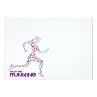 Keep on running card