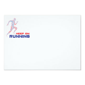 Keep on running 5x7 paper invitation card