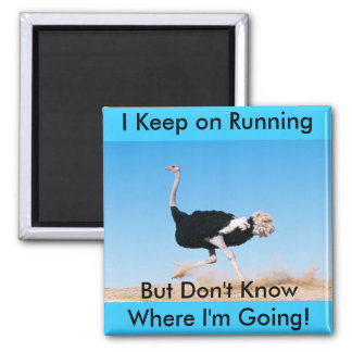 Keep on Running Ostrich Magnet