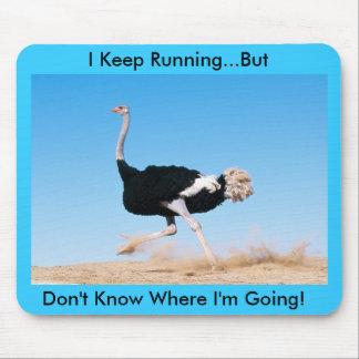 Keep on Running Ostrich Mousepad