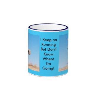 Keep on Running Ostrich Mug