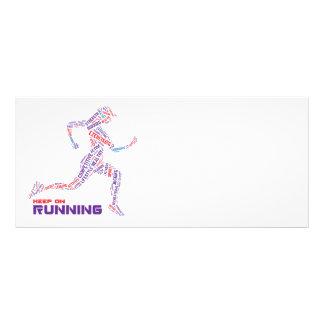 Keep on running rack card