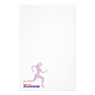 Keep on running stationery