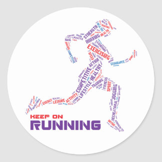 Keep on running stickers