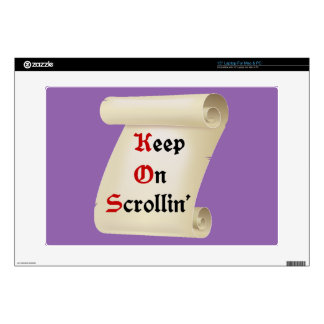 "Keep on scrollin' Scrolls Decal For 15"" Laptop"