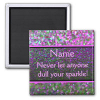 Keep on Sparkling 2 Inch Square Magnet